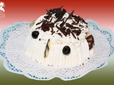 Csokoládé-vanília fagylaltbomba