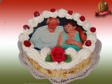 Ostyafotós torta (egyedi fényképpel)