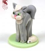 Marcipán tortadísz (macska)