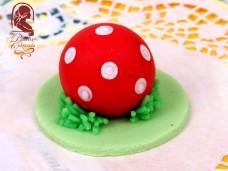 Marcipán tortadísz (labda)