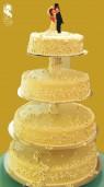 Esküvői torta (arany gyöngyökkel)